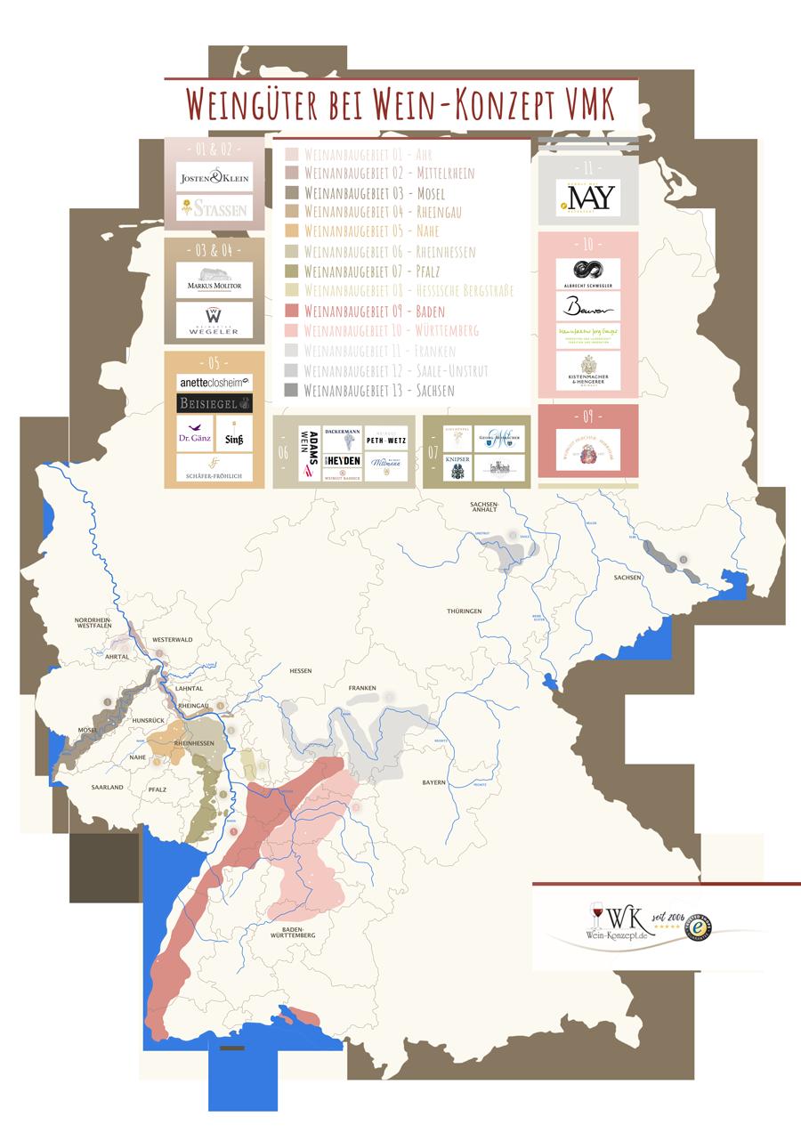 Weinanbaugebiete Deutschland