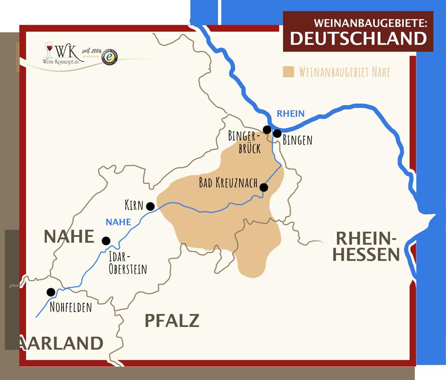 Weinanbaugebiete Nahe und Rheinhessen