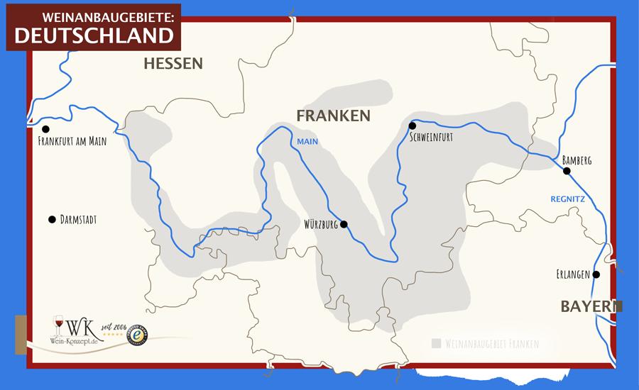 Weinanbaugebiet Franken