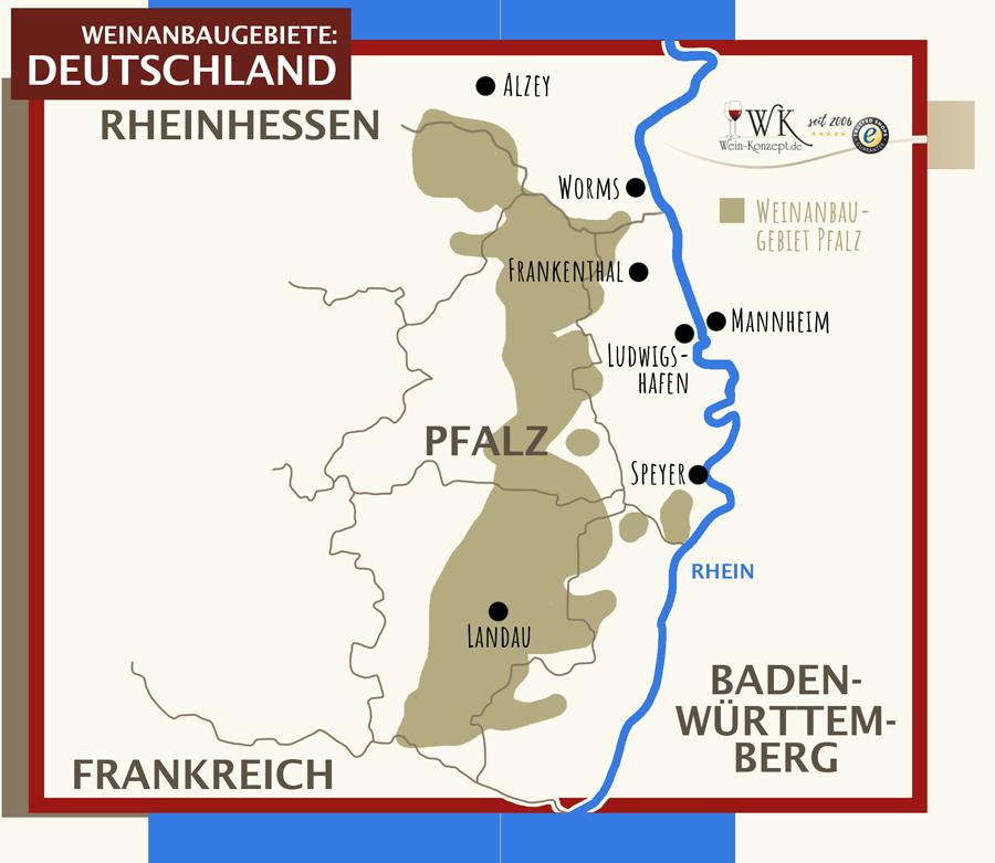 Weinanbaugebiete Pfalz