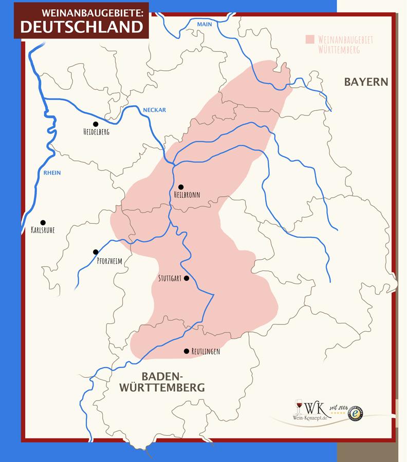 Weinanbaugebiete Württemberg