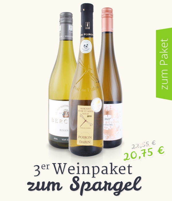Weinpaket zum Spargel