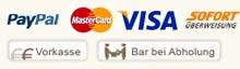 Wählen Sie Ihre Lieblings-Zahlungsart